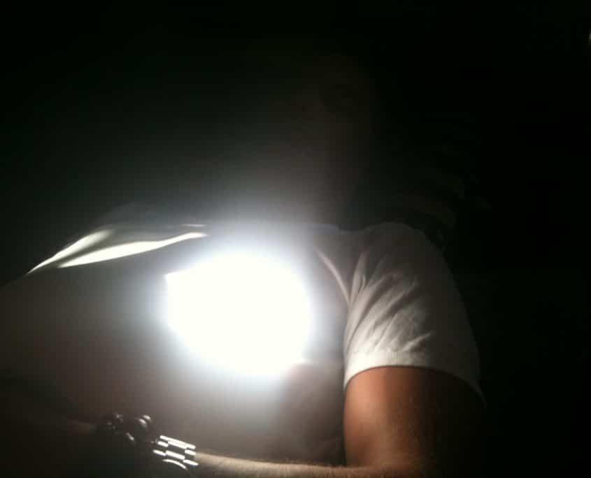 photo (sans flash) de l'énergie-lumière en action