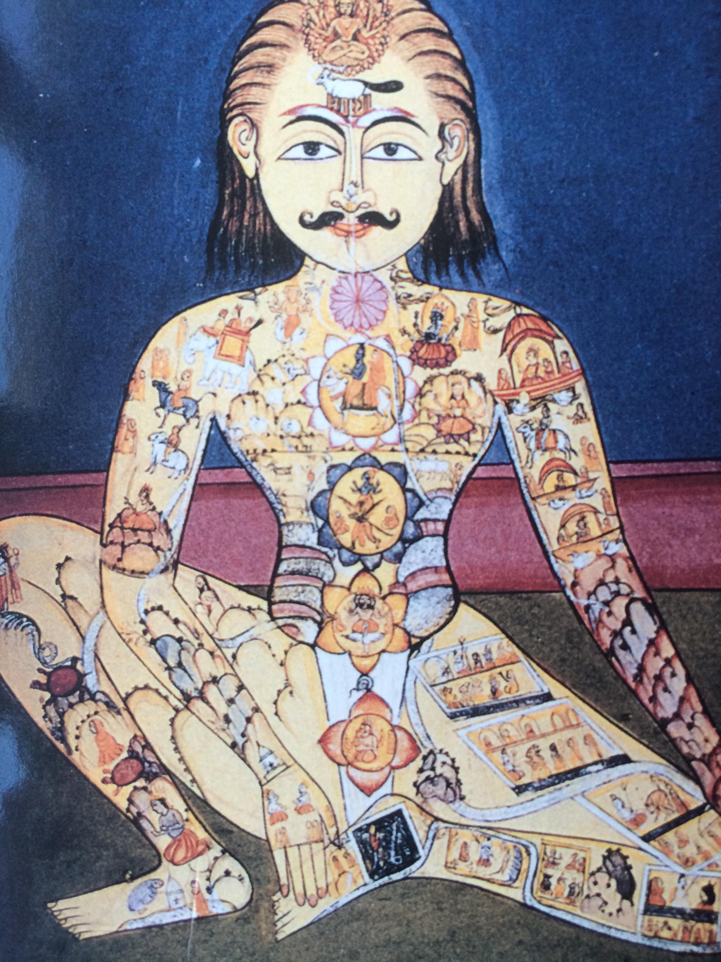 Représentation de la Mémoire de l'Univers dans un yogi (XVIIIe siècle)